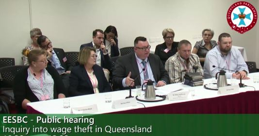 IR Claims Tells Inquiry There Is No Excuse For Wage Theft